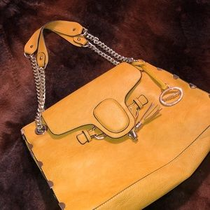 Muted deep yellow handbag
